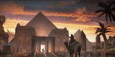 Feng Zhu Design: FZD Graduation Show 2014 Ancient Egypt Pyramids, Ancient Egypt Art, Ancient Aliens, Ancient Artifacts, Ancient Greece, Egyptian Temple, Egyptian Art, Fantasy Art Landscapes, Fantasy Landscape