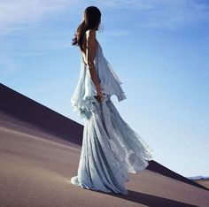 Josephine Le Tutour in Chloé photographed by Nathaniel Goldberg for Harper's Bazaar US, March Sheer Dress, Boho Dress, Flowy Dresses, Fashion Shoot, Editorial Fashion, Valentino Gowns, Desert Fashion, Mode Editorials, Fashion Editorials