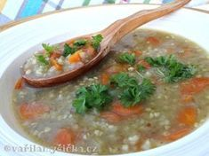 Co s pohankou Soup Recipes, Vegetarian Recipes, Cooking Recipes, Soups And Stews, Cheeseburger Chowder, Curry, Food And Drink, Gluten Free, Vegan