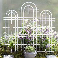 Miniature Fairy Garden Trellis - Triple White - My Fairy Gardens Fairy Garden Furniture, Fairy Garden Supplies, Garden Art, Garden Ideas, Mini Fairy Garden, Lawn And Garden, Porches, Bonsai, Winter Greenhouse