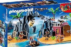Playmobil 6679 Pirate Treasure Island with shootable cannons, rowboat, various traps, a jail and a hidden cave.Suitable for ages 4 years   (Barcode EAN = 4008789066794). http://www.comparestoreprices.co.uk/latest2/playmobil-6679-pirate-treasure-island.asp