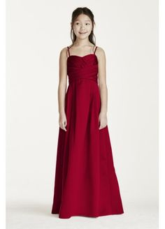 Satin Sweetheart Ball Gown with Pleated Bodice WJB0692