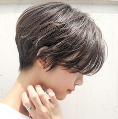 Tapered Textured Pixie with Side Bangs Liven up your ordinary pixie haircuts with feathered layers and a few blonde babylights. The result is a feminine and professional haircut that you can… Longer Pixie Haircut, Haircut For Thick Hair, Haircuts With Bangs, Long Pixie Cuts, Short Hair Cuts, Short Hair Styles, Short Hair With Bangs, Short Hair Updo, Short Pixie