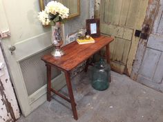 Rustic Couch Table, Solid Wood Entry or Console Table - Vintage Hip Décor