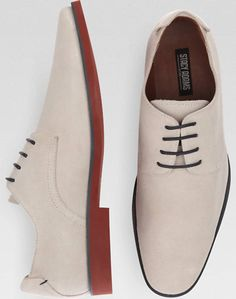 Stacy Adams Tremain Bone Suede Lace Up Shoes | Men's Wearhouse