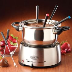 Nostalgia Stainless Steel Electric Fondue Pot -
