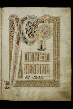 St. Gallen, Stiftsbibliothek, Cod. Sang. 51, p. 7 – Irish Evangelary from St. Gall (Quatuor evangelia) (http://www.e-codices.unifr.ch/en/list/one/csg/0051)
