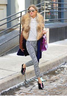 Olivia Palermo dans les rues de Soho