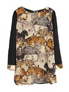 Chiffon Dress In Animal Print