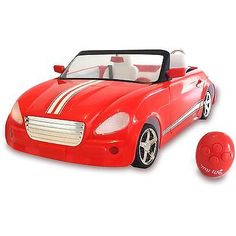 Dolls Remote Control Car Toy Girls Kids Convertible Working Headlights Horns New