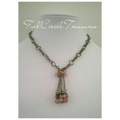 Cherry Quartz Necklace  Handmade Necklace  by FullCircleTreasures
