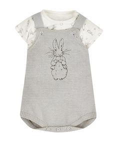 Peter Rabbit Bodysuit and Knitted Dungarees - Mothercare 16£