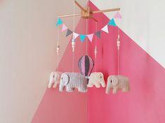 Baby Crib Mobile, Baby Mobile ,Amigurumi Crochet Mobile, Amigurumi, Elephant Mobile, Felt Balloon, Baby Gift, Nursery Mobile, Ready to Ship Elephant Size, Crochet Elephant, Crochet Baby, Baby Crib Mobile, Baby Cribs, Cute Gifts, Baby Gifts, Elephant Mobile, Crochet Mobile