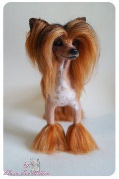 Chinese Crested /Personalized Pet /Felt dog/Needle от Felteddoggie