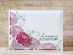 Happy Mother's Card Day by Shelly Mercado #Cardmaking, #MothersDay, #SimplyStamped, #Vellum, #TE, #ShareJoy