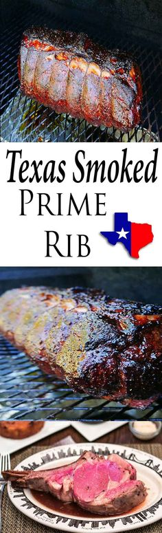Traditional Texas Smoked Prime Rib the ultimate when it comes to Prime Rib. Low & Slow is Texas BBQ. All The steps to the perfect Prime Rib. Smoked Prime Rib, Prime Rib Roast, Smoked Beef, Smoked Brisket, Smoked Ribs, Smoked Meat Recipes, Rib Recipes, Grilling Recipes, Recipies