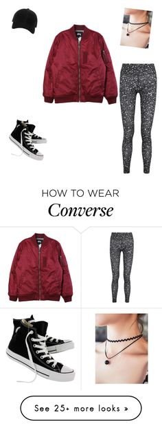 """Street style"" by myrnacosta on Polyvore featuring NIKE, rag & bone, Stussy and Converse"