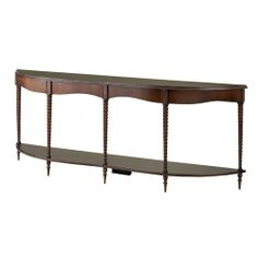 Currey & Co Bingham Mahogany And Walnut Burl Console Table Currey Company Console/Sofa Tables Accent Table  77x13x30