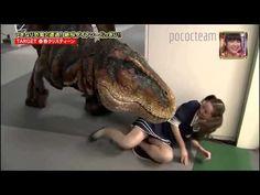 Japanese prank dinosaur T REX in hall way part 1 - YouTube