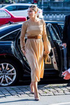 18 September 2019 - Working visit to Denmark (day Copenhagen, Swedish-Danish business forum - dress by Totêm Princess Victoria Of Sweden, Princess Estelle, Crown Princess Victoria, Crown Princess Mary, Victoria Fashion, Victoria Style, Princesa Victoria, Queen Vic, Denmark Royal Family