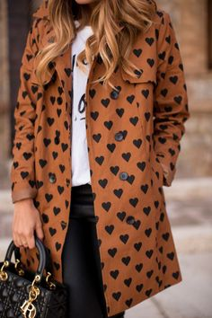 Heart Print Trench