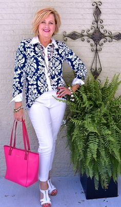 50 IS NOT OLD | CHARACTER & CLASS | Navy & White | Pop of Color | Fashion over 40 for the everyday woman.