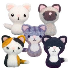 White, Siamese, Tabby, Tuxedo, Calico Kitties Our most popular amigurumi pattern! Knit and felt a tabby, tuxedo, calico, siamese and solid color kitty. Our simp