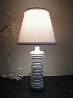DIY Plastic Bottle Lamp Base