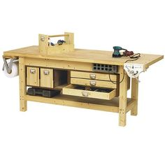Rustic Furniture Tutorial | Workbench Plans | DIY Pipe Leg Table