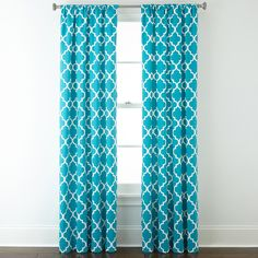 Home Expressions™ Thermal Trellis Rod-Pocket Curtain Panel ($9.99) ❤ liked on Polyvore featuring home, home decor, window treatments, curtains, room, pole top curtains, rod pocket curtain panels, thermal curtain panels, thermal window panel and trellis pattern curtains