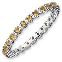 0.47ct Everlasting Beauty Silver Stackable Citrine Ring. Sizes 5-10 Available Jewelry Pot. $51.99. 30 Day Money Back Guarantee. Fabulous Promotions and Discounts!. All Genuine Diamonds, Gemstones, Materials, and Precious Metals. Your item will be shipped the same or next weekday!. 100% Satisfaction Guarantee. Questions? Call 866-923-4446. Save 59%!