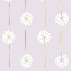 lavender dandelion fabric by shindigdesignstudio on Spoonflower - custom fabric