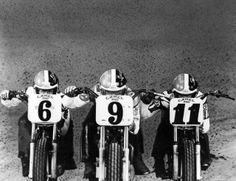 Jay Springsteen, Scott Parker and Randy Goss Flat Track Motorcycle, Flat Track Racing, Motorcycle Racers, Motorcycle Girls, British Motorcycles, Old Motorcycles, T Race, Flat Tracker, Old Bikes