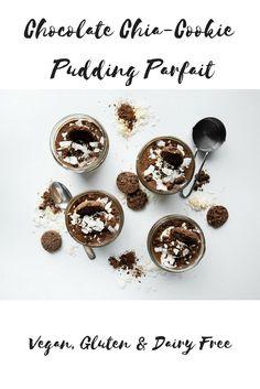 Chocolate Chia-Cookie Pudding Parfait!
