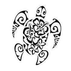 Tatuaggio di Tartaruga e fiori, Femminilità tattoo - custom tattoo designs on TattooTribes.com #femininepolynesiantattoos