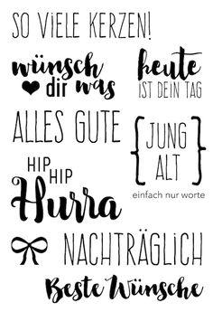 "Klartext Stempelset ""So viele Kerzen"" von www.danipeuss.de #dpAugustkit16 #danipeuss #klartextstempel"