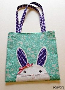 Bunny Face Bag - Free Sewing Tutorial from SewVery