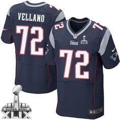 NFL New England Patriots Joe Vellano Mens Elite Home Navy Blue #72 Super Bowl XLIX Jersey