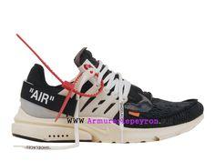 uk availability e532e 1c779 2018 Nouvelle Coutume Off-White X Nike Air Presto Prix taille des hommes  Noir Blanc