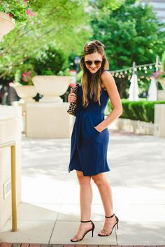 #BetterInADress //  Mallory Fitzsimmons of 'Style Your Senses' in our   Annabel Crepe Shift Dress by DonnaMorgan