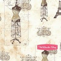 City of Lights Parchment Corsetry Yardage <br/>SKU