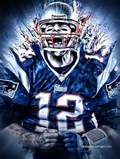 NFL: Tom Brady, New England Patriots by Matthew Sharpe, via Behance