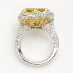 sotheby's+diamond+rings | Fancy vivid yellow diamond ring, Christopher Designs. Photo Sotheby's