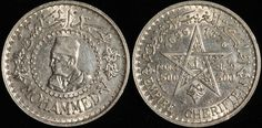 #Morocco 500 Francs, 1956. Check it out and more World Coins at meridiancoin.com, see what's selling on our eBay, or come by our store in #Torrance CA. #coin #money #collecting #numismatic #numismatist