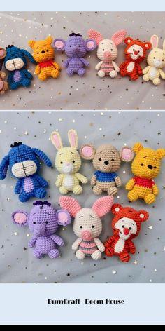Disney Crochet Patterns, Crochet Amigurumi Free Patterns, Crochet Animal Patterns, Crochet Doll Pattern, Stuffed Animal Patterns, Crochet Designs, Crochet Dolls, Crochet Animals, Kawaii Crochet