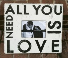All You Need is Love 5 x 7 Photo Frame by GoJumpInTheLake on Etsy, $40.00
