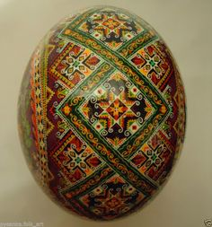 Ukrainian Pysanka by Oleh K, Ostrich Easter egg Pysanky