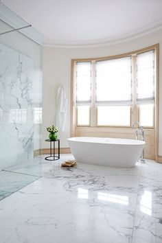 In the main bathroom, the floor and basin unit (above) are Calacatta marble; the bathtub is from Boffi. Modern Sink, Modern Bathroom, Small Bathroom, Bathroom Ideas, Bathroom Designs, Bathroom Vanities, French Bathroom Decor, Bathroom Renovations, Bathroom Storage