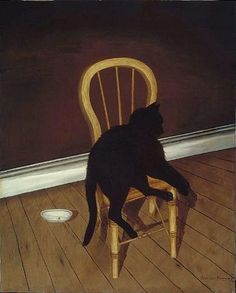 """""""Black Cat on a Chair"""" by Andrew L. von Wittkamp"""