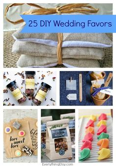25 DIY Wedding Favors - These are not your everyday wedding favor ideas!  EverythingEtsy.com #wedding #weddingfavor #diy